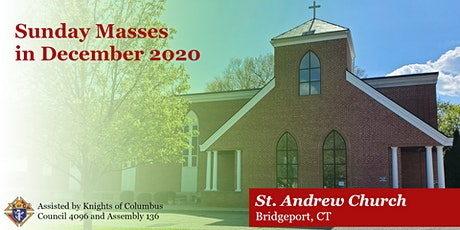 Sunday and Feast Day Masses for December 2020 tickets