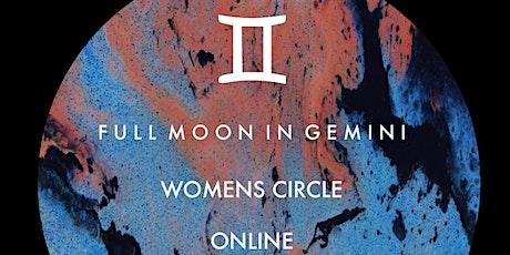 Full Moon in Gemini - Women's Circle  - *Online* tickets
