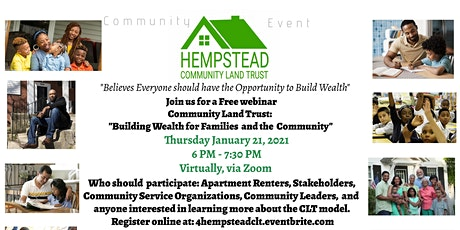 "Community Land Trust: ""Building Wealth for Families and the Community"" tickets"