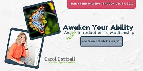 Awaken Your Ability. An Online Introduction To Mediumship. Winter 2021 tickets