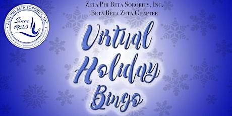 Virtual Holiday Bingo tickets