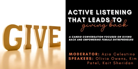Active Listening That Leads to Understanding: Giving Back tickets