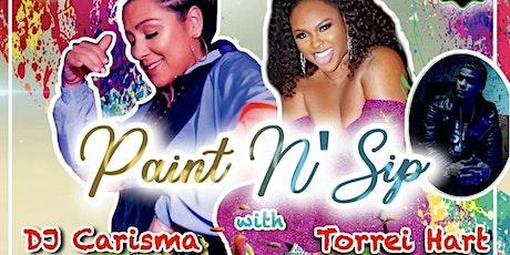 "Paint N Sip w/ DJ Carisma ""HipHop & RnB tickets"
