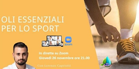 Corso Gratuito Introduzione agli Oli Essenziali Puri per lo Sport. biglietti