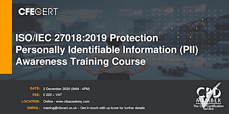 ISO/IEC 27018:2019 PII in Public Clouds Acting as PII Processors Training tickets
