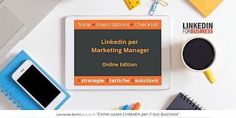 LinkedIn per Marketing Manager Online Edition biglietti