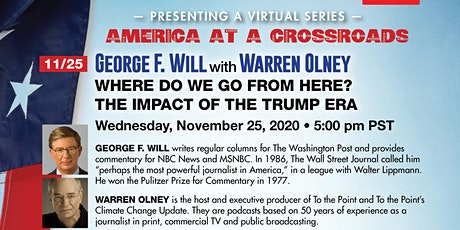 George F. Will: Where Do We Go From Here---The Impact of the Trump Era? tickets