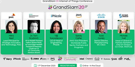 IoT Grand Slam 2020 Internet of Things Conference tickets