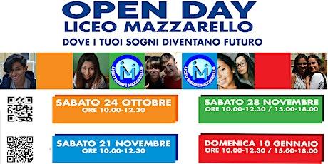 OPEN DAY ONLINE LICEO MAZZARELLO biglietti