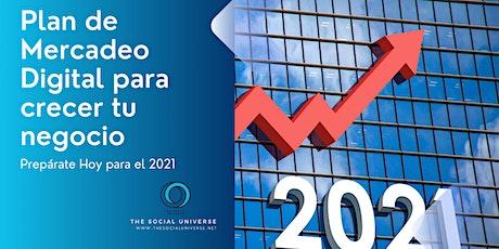 Bootcamp: El Plan de  Mercadeo Digital para crecer tu Negocio en 2021 entradas
