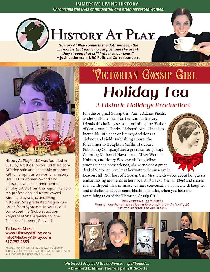 History At Play™, LLC Presents HISTORIC HOLIDAYS-Booking thru Jan. 31, 2021 image