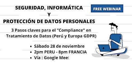 Seguridad, Informática y Protección de Datos Personales– Perú y Europa GDPR boletos