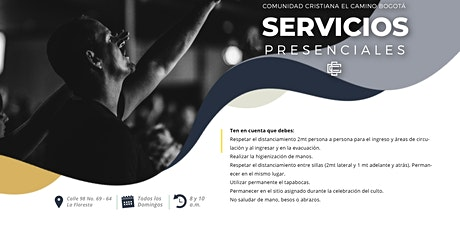 Servicio Presencial - Domingo 29 de Noviembre, 8: 00 y 10:00 a.m.