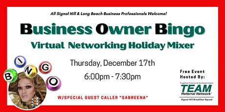 Business Owner Bingo Virtual Networking Holiday Mixer tickets