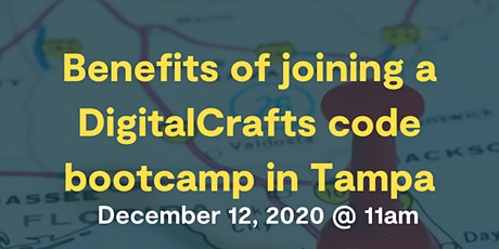 Benefits of joining a DigitalCrafts code bootcamp  in Tampa tickets