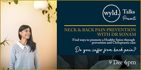 Neck & Back Pain Prevention With Dr Sonam tickets
