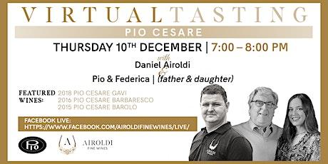 Virtual Tasting with Pio Cesare tickets