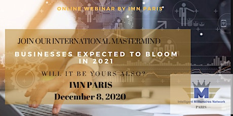 Mastermind Live Webinar: Businesses expected to bloom in 2021 tickets