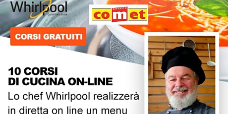 """Corso di Cucina """"Vegano /Vegetariano"""" con Microonde Whirlpool con COMET biglietti"""