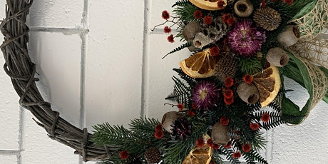 Christmas Wreath Workshop Dried and or Artificial tickets