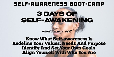 Self-Awreness Boot Camp tickets