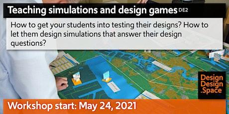 Teaching simulations and design games (DE2) biglietti