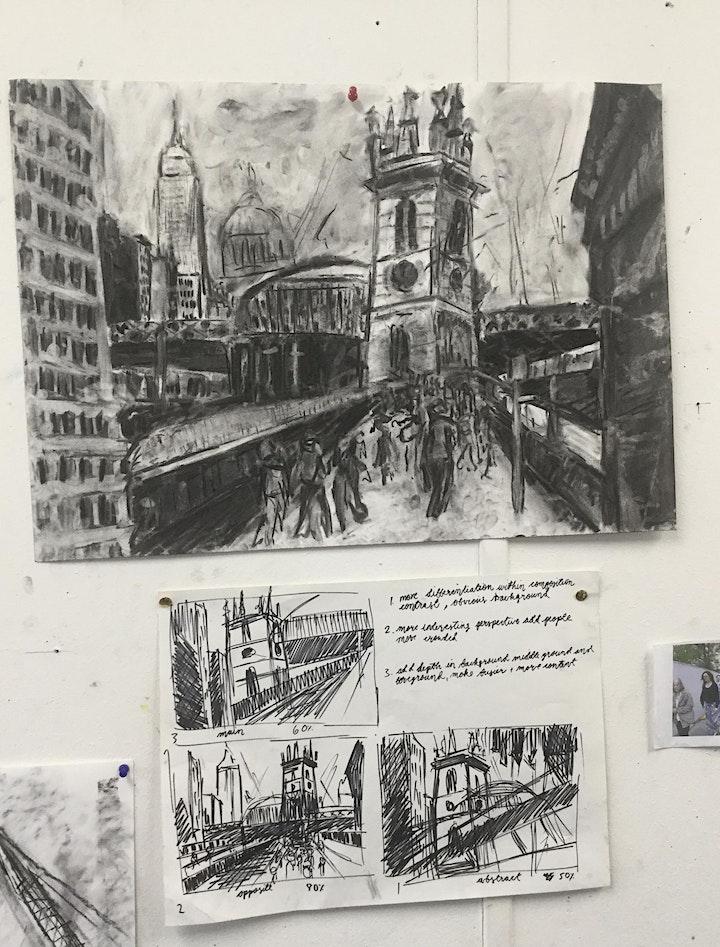 We Explore Drawing 3 Hour Urban Drawing New York Workshop image