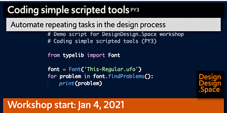 Coding simple scripted tools (PY3) | Automate repeating design tasks tickets