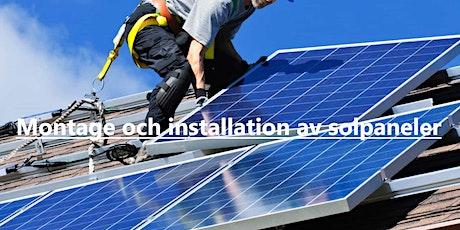 Montage och installation av solpaneler (tvådagarskurs) biljetter