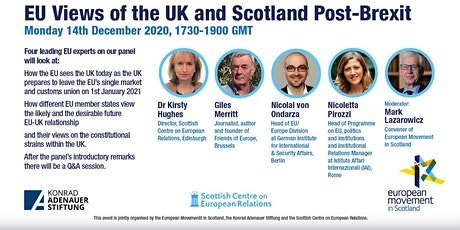EU Views of the UK and Scotland Post-Brexit: Online Public Event tickets