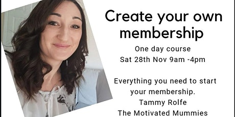 Create Your Membership Today! tickets