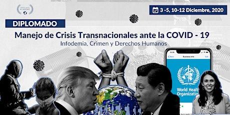 Diplomado Int. en Manejo de Crisis Transnacionales ante la COVID-19: entradas