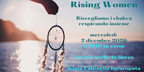 RISING WOMEN - Respirazione al Femminile. boletos