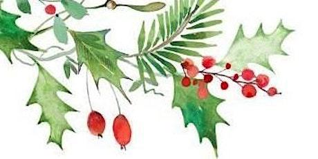 Mixed Media : Gouache + Watercolor / Wreath tickets