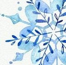 Mixed Media : Gouache + Watercolor / Snowflake tickets