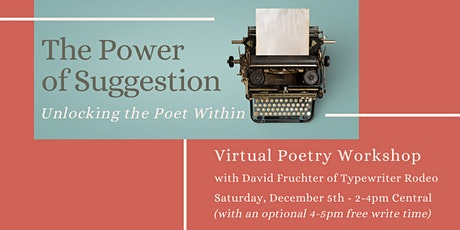 The Power of Suggestion: Unlocking the Poet Within tickets