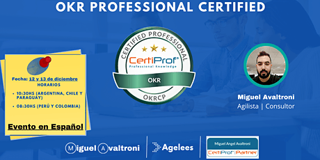 Preparatorio para certificación OKR Certified Professional (OKRCP) tickets