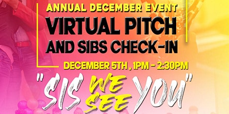 SIBs Annual December Event: Virtual Pitch and Check-In tickets