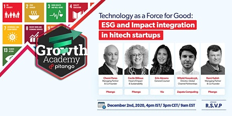 Pitango Growth Academy: Technology as a Force for Good tickets