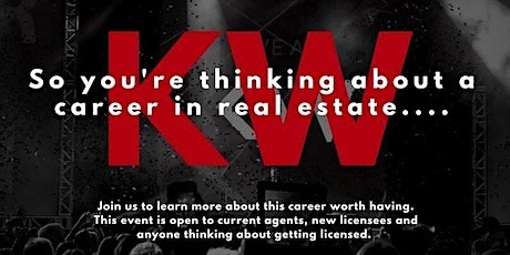 100K a Year  Career in Real Estate with Keller Williams Information Session tickets