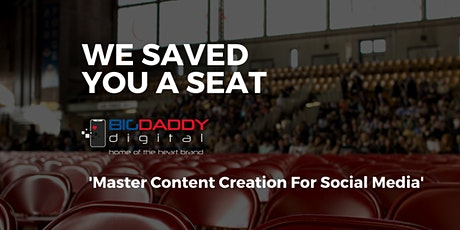 BIGDaddy Influencer Content Creation Model tickets