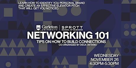 DECA Ontario x Sprott: Networking 101 tickets