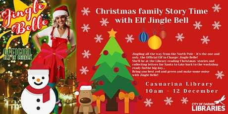 Christmas Family Story Time with Elf Jingle Belle - Darwin City Library tickets