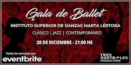 Gala de ballet del Instituto superior de danzas Marta Lértora entradas