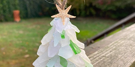 Sea Glass Tree Ornament Set with Robin tickets