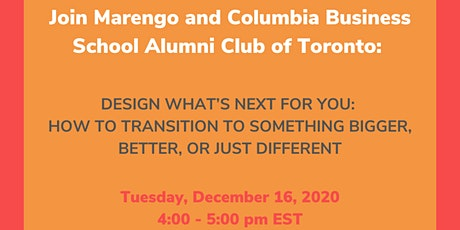 CBS Canada Alumni: Design what's next for you tickets