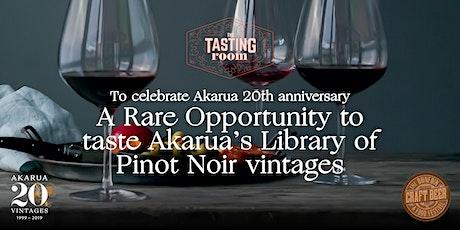 The Tasting Room :Vertical Tasting of Ten Akarua Pinot Noir Vintages tickets