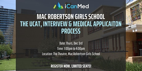 Free 3-Hr iCanMed Webinar: UCAT, interview & medical admissions process tickets