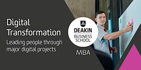 Deakin MBA Masterclass - Digital Transformation Tickets