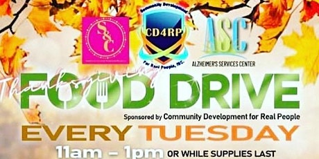 CD4RP Thanksgiving Food Giveaway & Drive  Tuesday tickets